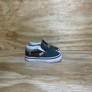 Vans Toddler Slip On Camo Shoes Baby Size 4 Green